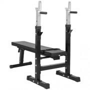Gorilla-Sports-GS006-Banc-de-musculation-avec-support-de-bar-0-0