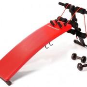 Ultrasport-Banc--abdos-3-en-1-Appareil-pour-abdominaux-Repliable-pour-conomiser-de-la-place-avec-2-haltres-de-gymnastique-de-15-kg-lastiques-en-latex-0