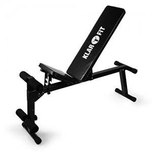 Klarfit-Banc-de-Muscu-Appareil-Multifonctions-Musculation-Entrainement-Couch-Haltres-Abdominaux-Pectoraux-et-Biceps-Acier-Ultrarobuste-noir-0