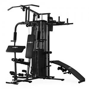 Klarfit-Ultimate-Gym-5000-station-fitness-multifonction-butterfly-bench-press-rameur-crunchbank-permet-plus-de-50-exercices-poids-inclus-entrainement-complet-noir-0