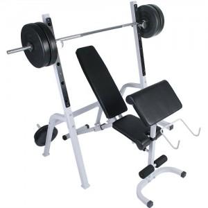 Physionics-Banc-de-Musculation-avec-Support-pour-Haltres-et-Pupitre--Biceps-0