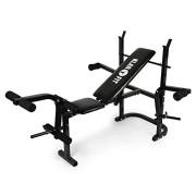 Klarfit-Workout-Hero-Multistation--Banc-dhaltrophilie--Banc-de-musculation--Support-pour-haltres--Barres-de-flexion-pour-bras-et-jambes--Capacit-de-charge-max-160-kg--Cadre-en-acier-noir-0