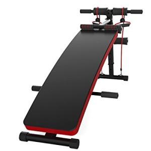 JUFIT-Banc-de-Musculation-Multifonction-Rglable-Appareil-pour-abdominaux-avec-5-positions-2-lastiques-en-latex-noir-0