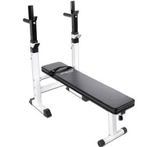 Physionics-Banc-de-Musculation-Pliable-avec-Support-pour-Haltre-et-Station--Dips-0
