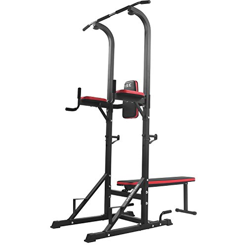 ISE-Chaise-Romaine-Station-Traction-Dips-Multifonctions-Barre-de-Traction-Dips-Banc-de-Musculation-SY-4006-0