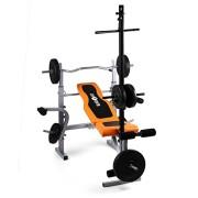 Klarfit-Ultimate-Gym-3500-Banc-de-musculation-complet-curler-pour-bras-et-jambes-barre-latissimus-et-support-pour-haltre-supporte-250kg-max-orange-0-0