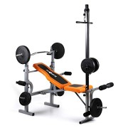 Klarfit-Ultimate-Gym-3500-Banc-de-musculation-complet-curler-pour-bras-et-jambes-barre-latissimus-et-support-pour-haltre-supporte-250kg-max-orange-0