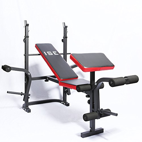 ISE-Banc-de-Musculation-Multifonction-Rglable-Pliable-Inclinable-Fitness-pour-Entrainement-Complet-SY-5430B-0