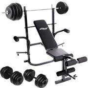 Physionics-Banc-de-Musculation-avec-Repose-Barres-Haltre-Long-60-kg-2-Haltres-Courts-30-kg-0