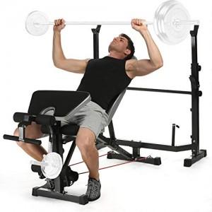 ANCHEER-Banc-de-Musculation-Abdominaux-Ensemble-de-Multifonction-pour-Les-Exercices-en-Intrieur-Complet-InclinableCompactSparProfessionnelNinclut-Pas-Les-Haltres-et-la-Barre-1-0