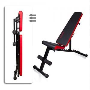 CCLIFE-Banc-reglable-Musculation-Banc-Musculation-Banc-de-Musculation-Pliable-Banc-muscu-Banc-Abdo-Banc-dhatrophilie-Charge-maximale-330kg-CouleurNoir-021-0