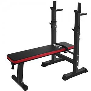 ISE-Banc-de-Musculation-Pliable-Rglable-avec-Support-de-Barres-pour-Haltre-et-Station--Dips-SY-544-BK-0