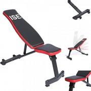 ISE-Banc-de-Musculation-Pliable-Banc-de-Poids-Rglable-permable--lair-Inclinable-Exercice-Gymnastique--Domicile-Dossier-rglables-en-6-Positions-Formation-dexercice-Max-250KG-SY-5021-0-0