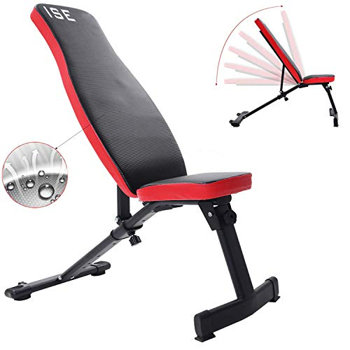 ISE-Banc-de-Musculation-Pliable-Banc-de-Poids-Rglable-permable–lair-Inclinable-Exercice-Gymnastique–Domicile-Dossier-rglables-en-6-Positions-Formation-dexercice-Max-250KG-SY-5021-0