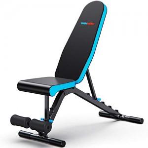 WINNOW-Banc-de-musculation-Rglable-Fitness--la-maison-Gym-Ustensiles-de-musculation-pour-abdominaux-Appuyez-sur-Bench-Press-inclinable-decline-Banc-abdominaux-Exercice-de-musculation-Levage-de-poids-0