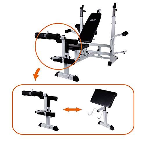 CCLIFE-Banc-de-Musculation-Multifonction-Banc-de-muscu-rglable-avec-Cable-pour-Abdo-0
