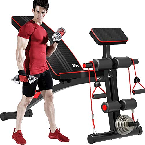 HAOYF-Banc-De-Musculation-Inclinable-Pliable-Reglable-Banc-De-Musculation-Multifonction-Station-De-Musculation-Home-Gym-Unisexe-0