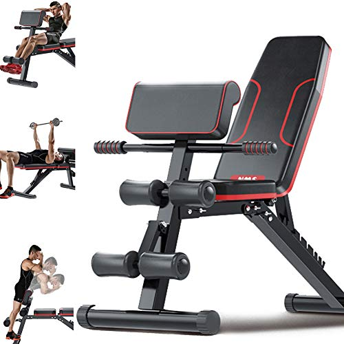 HAOYF-Banc-De-Musculation-Multifonction-Professionnel-Pliable-Complet-Station-De-Musculation-Abdominaux-Jambe-0
